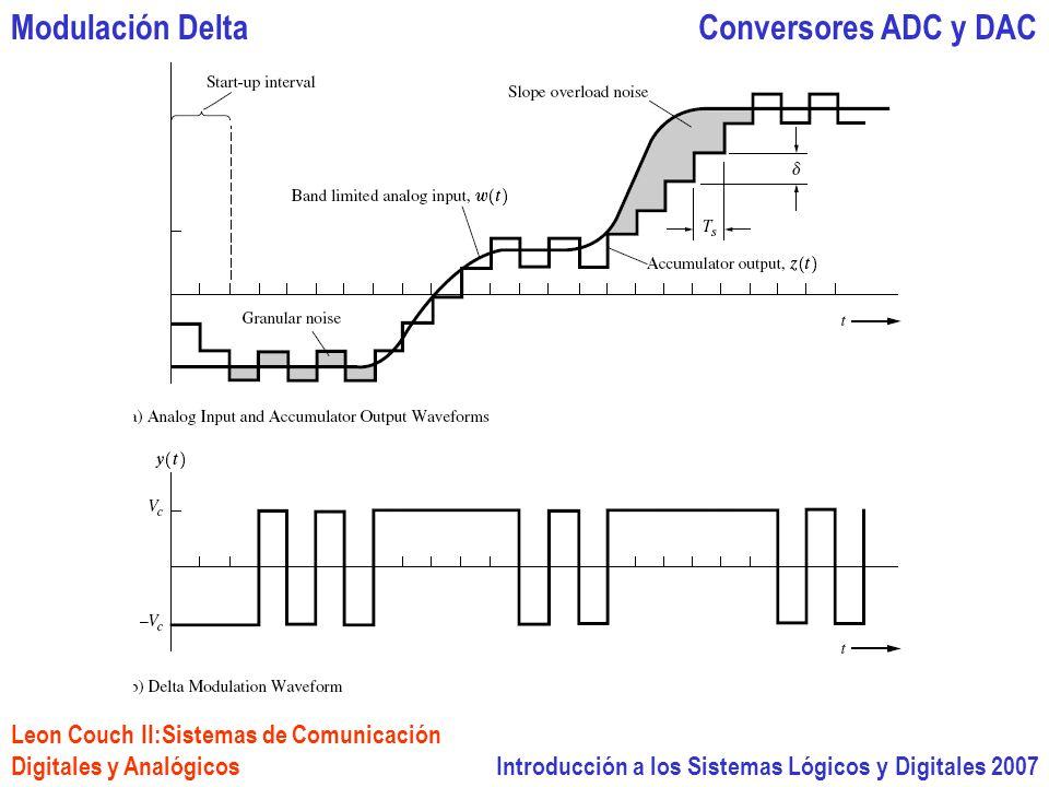 Introducción a los Sistemas Lógicos y Digitales 2007 Conversores ADC y DACModulación Delta Leon Couch II:Sistemas de Comunicación Digitales y Analógicos