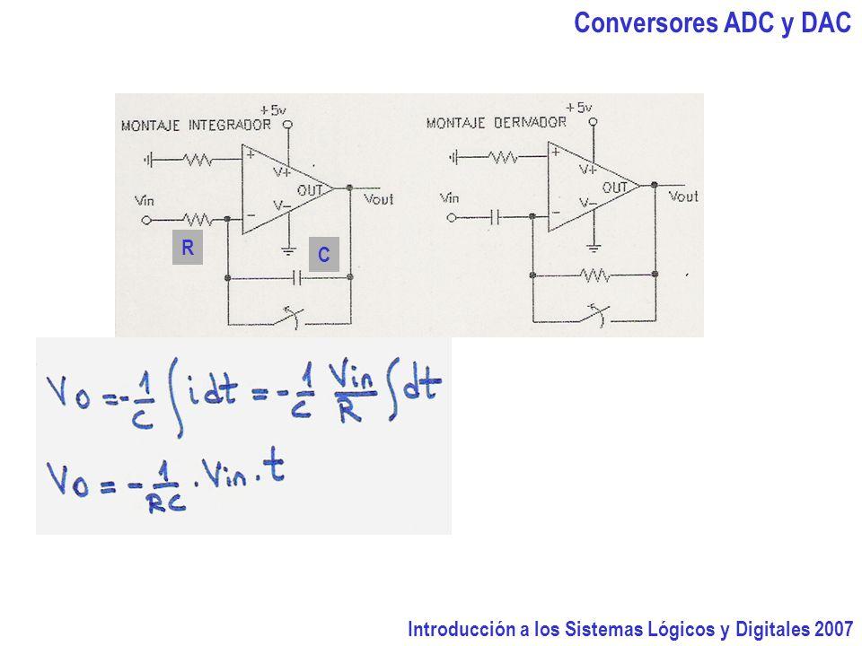 Introducción a los Sistemas Lógicos y Digitales 2007 Conversores ADC y DAC R C