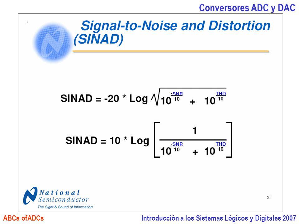 Introducción a los Sistemas Lógicos y Digitales 2007 Conversores ADC y DAC ABCs ofADCs