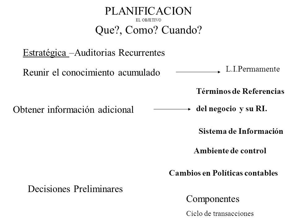 PLANIFICACION EL OBJETIVO Que?, Como.Cuando.
