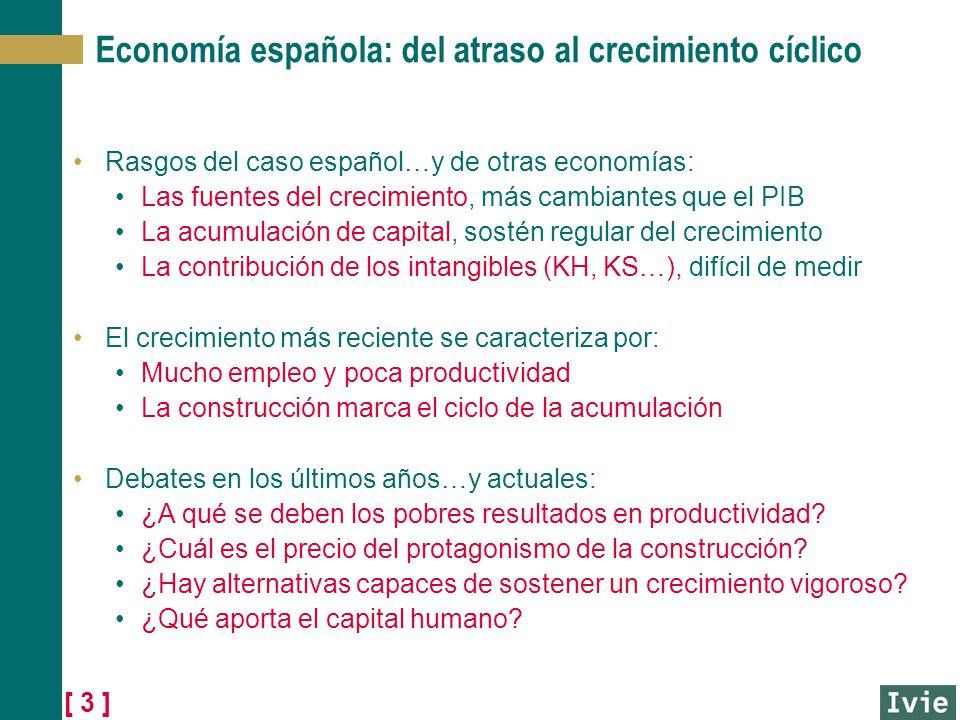 [ 3 ] Economía española: del atraso al crecimiento cíclico Rasgos del caso español…y de otras economías: Las fuentes del crecimiento, más cambiantes q