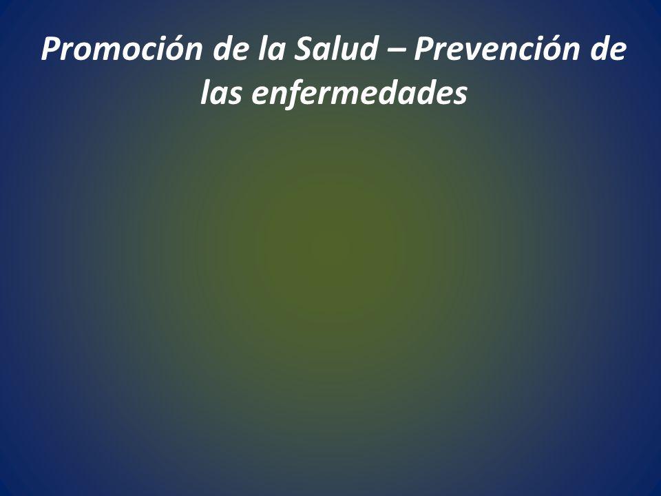 Promoción de la Salud – Prevención de las enfermedades