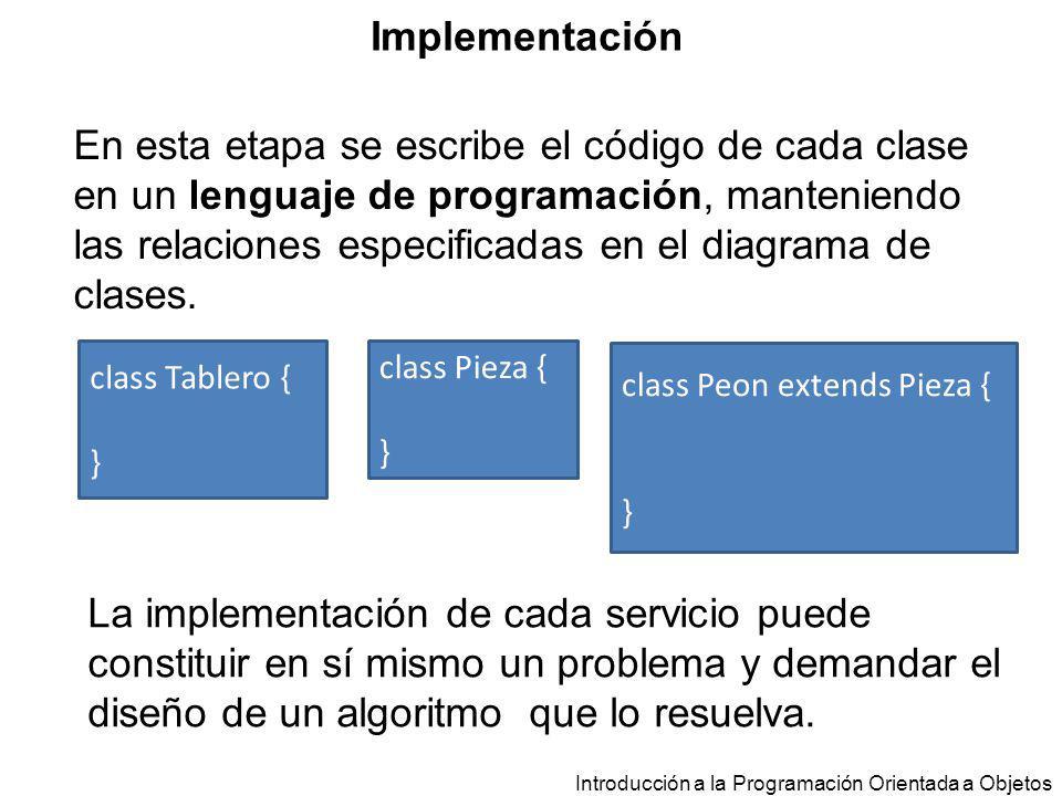 En esta etapa se escribe el código de cada clase en un lenguaje de programación, manteniendo las relaciones especificadas en el diagrama de clases. In