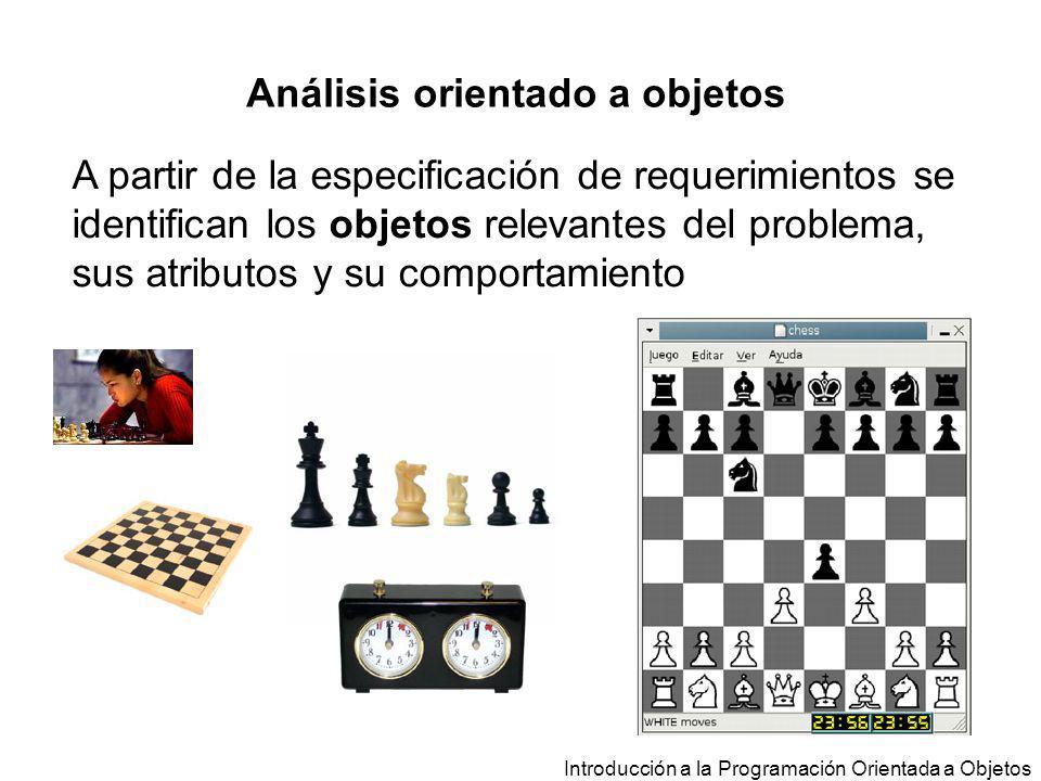 Análisis orientado a objetos Introducción a la Programación Orientada a Objetos A partir de la especificación de requerimientos se identifican los obj
