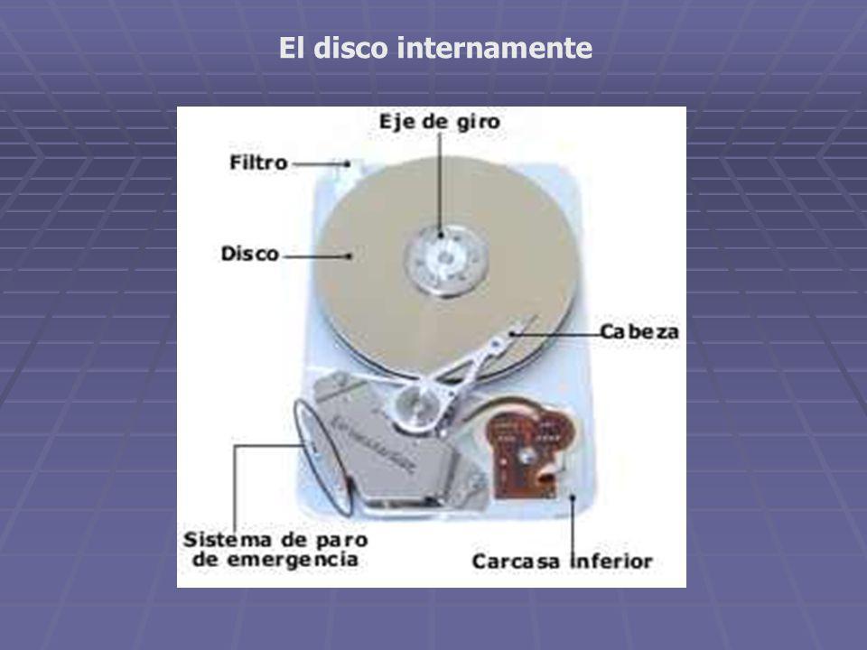 El disco internamente