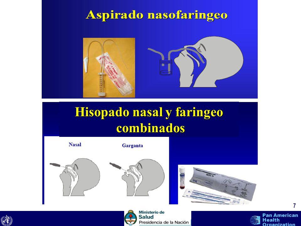 text 8 Pan American Health Organization Equipo de Protección Personal 8 Mascarillas N95, si no hay, usar mascarilla quirúrgica Guantes Protección para los ojos (gafas de seguridad) Cobertores de pelo (gorros) Ropa protectora (bata)