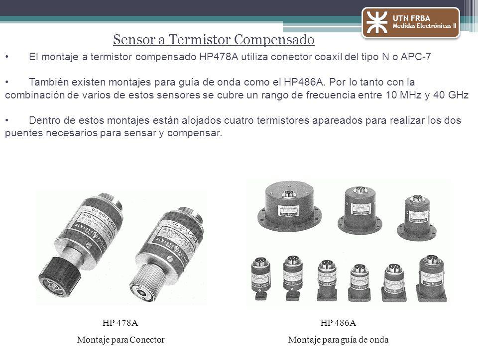 El montaje a termistor compensado HP478A utiliza conector coaxil del tipo N o APC-7 También existen montajes para guía de onda como el HP486A.