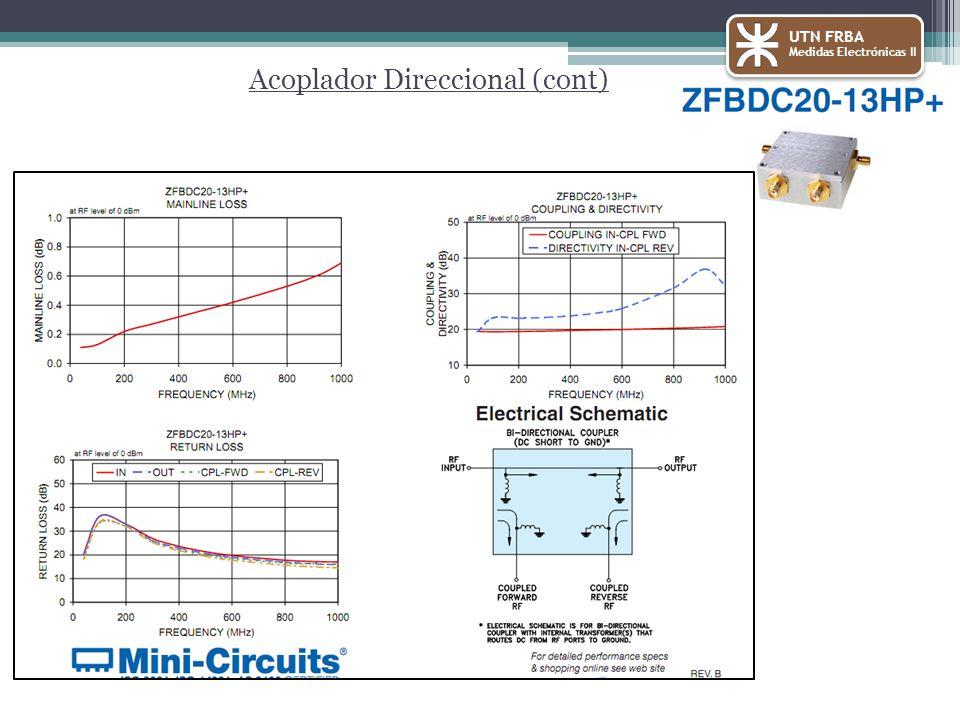 Acoplador Direccional (cont) UTN FRBA Medidas Electrónicas II