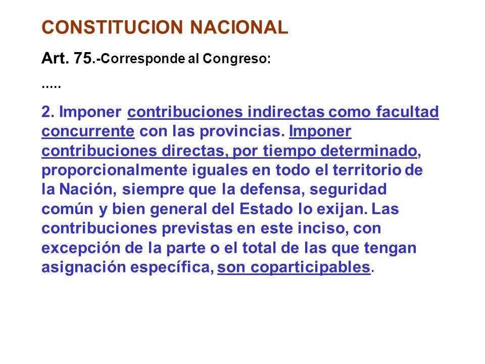 CONSTITUCION NACIONAL Art.75.-Corresponde al Congreso: 2.