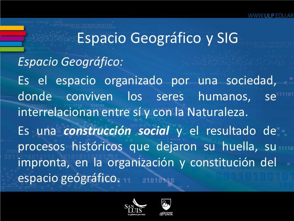 Espacio Geográfico: Es el espacio organizado por una sociedad, donde conviven los seres humanos, se interrelacionan entre sí y con la Naturaleza. Es u