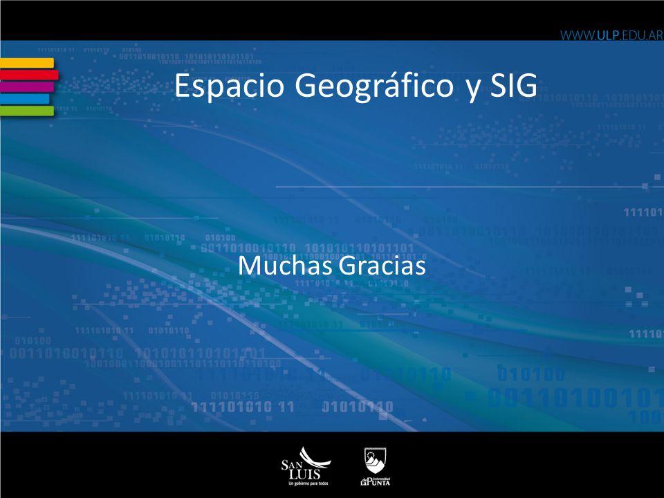Espacio Geográfico y SIG Muchas Gracias