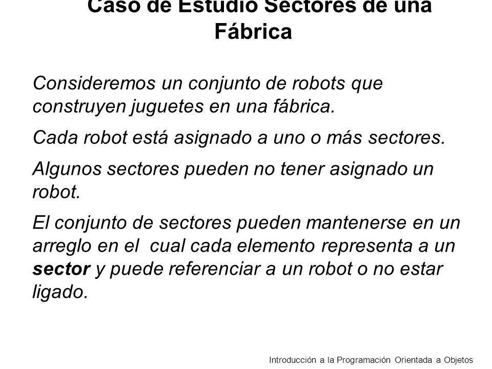 Introducción a la Programación Orientada a Objetos Consideremos un conjunto de robots que construyen juguetes en una fábrica.