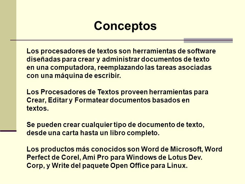 Los procesadores de textos son herramientas de software diseñadas para crear y administrar documentos de texto en una computadora, reemplazando las ta