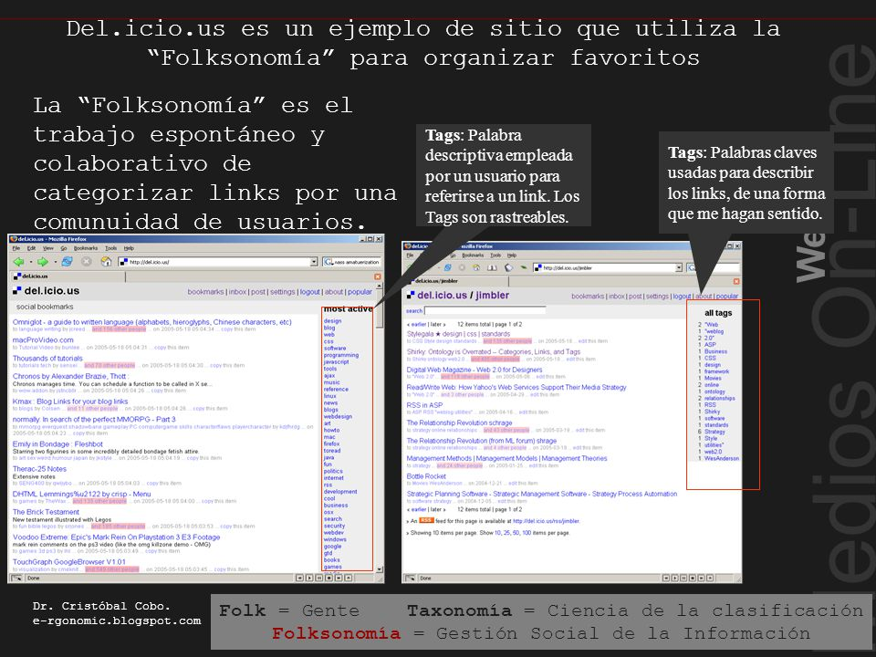 Medios On-Line Web 2.0 Dr. Cristóbal Cobo.
