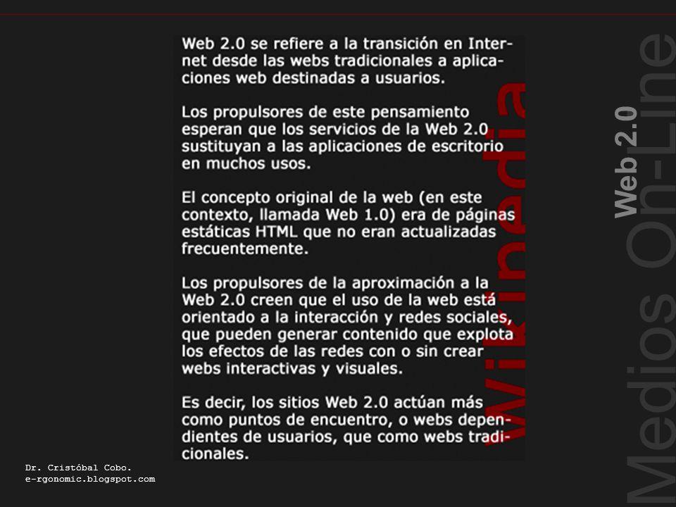 Definición wikipedia Medios On-Line Web 2.0 Dr. Cristóbal Cobo. e-rgonomic.blogspot.com