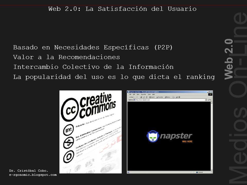 Web como Plataforma Medios On-Line Web 2.0 Dr.Cristóbal Cobo.