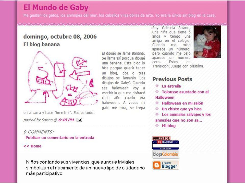 victorsolano.com Niños contando sus vivencias, que aunque triviales simbolizan el nacimiento de un nuevo tipo de ciudadano más participativo