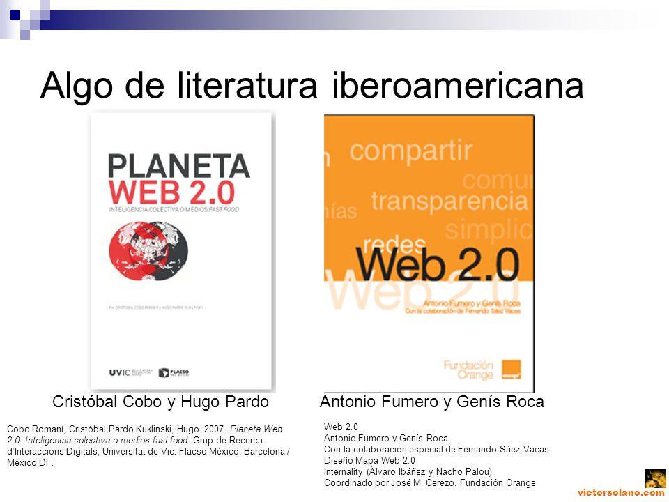 Algo de literatura iberoamericana Cristóbal Cobo y Hugo PardoAntonio Fumero y Genís Roca Cobo Romaní, Cristóbal;Pardo Kuklinski, Hugo.
