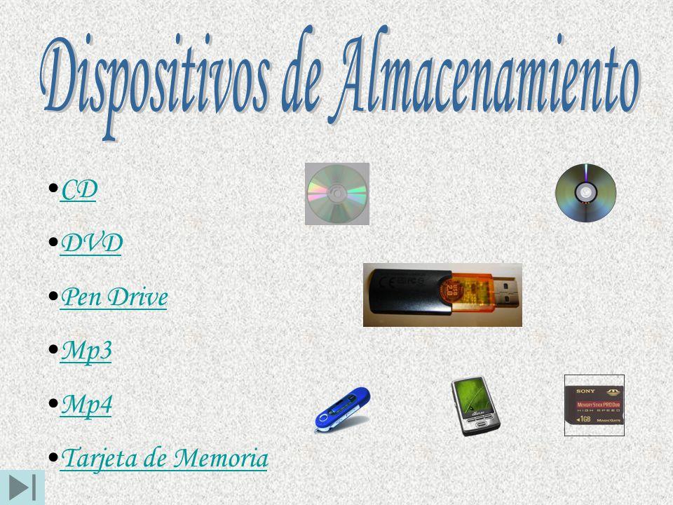 CD DVD Pen Drive Mp3 Mp4 Tarjeta de Memoria