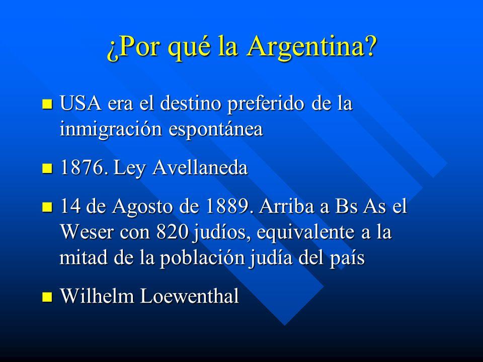 ¿Por qué la Argentina.