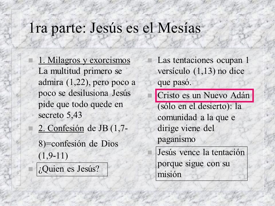 4 Momentos clave n 2do Momento: Curación del paralítico 2,1-12 n perdón de los pecados n ¿quién es este?: viola la ley (2,15-3,6) pero hace milagros.
