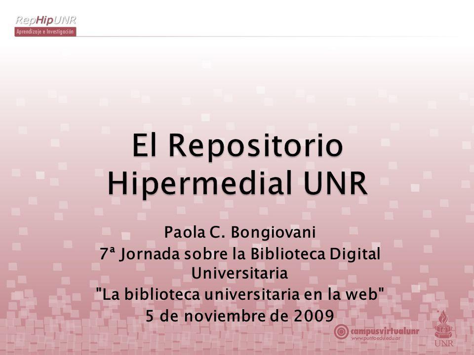 Paola C. Bongiovani 7ª Jornada sobre la Biblioteca Digital Universitaria