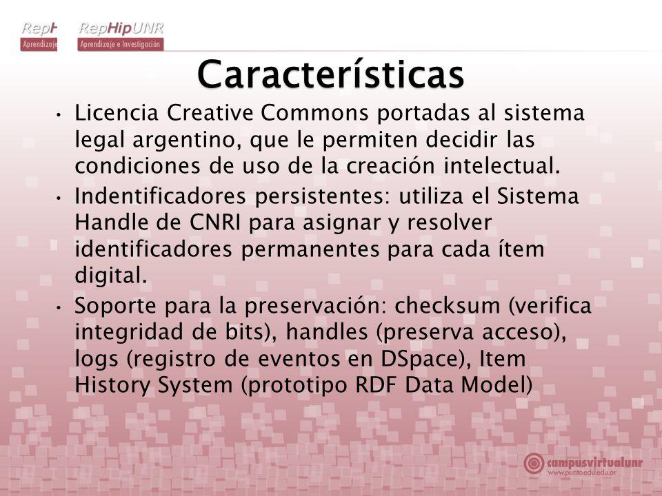 Características Licencia Creative Commons portadas al sistema legal argentino, que le permiten decidir las condiciones de uso de la creación intelectu