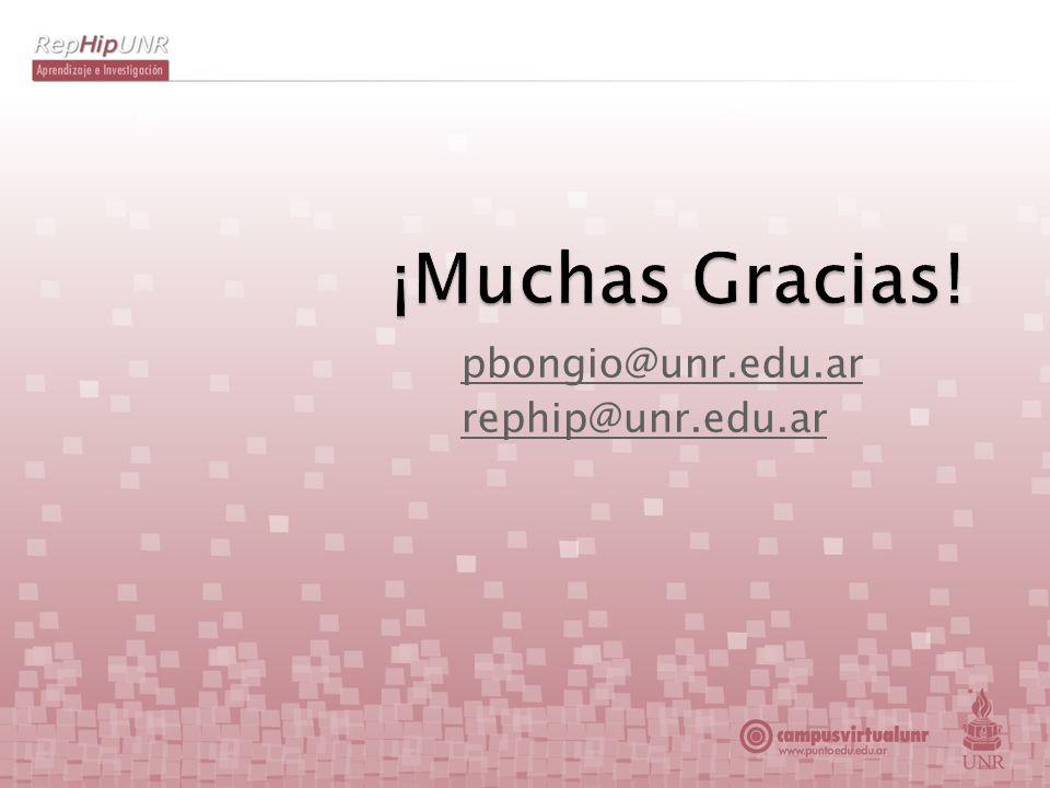 pbongio@unr.edu.ar rephip@unr.edu.ar