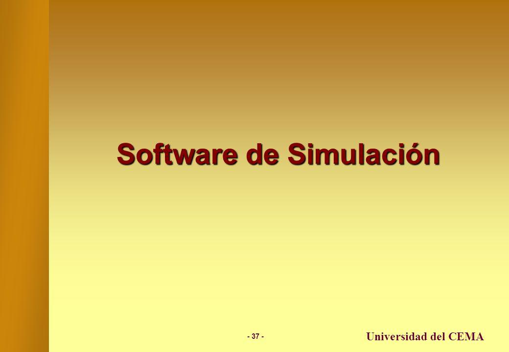 - 36 - Universidad del CEMA Ejemplo – Planificación de Inversiones usando Simulación También se podrían simular otras variables además de los retornos: –Expectativa de vida del Sr.