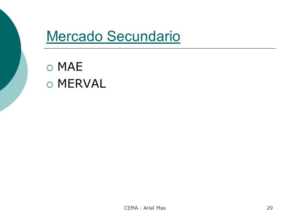 CEMA - Ariel Mas29 Mercado Secundario MAE MERVAL
