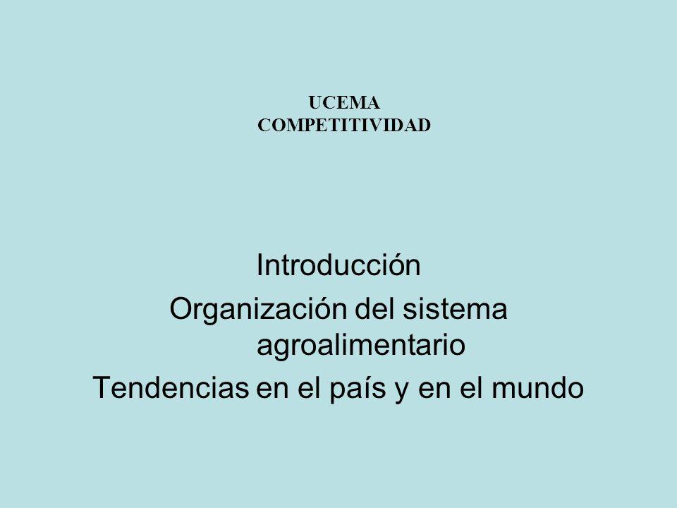 UCEMA COMPETITIVIDAD Introducción Organización del sistema agroalimentario Tendencias en el país y en el mundo
