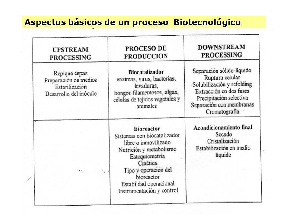 Aspectos básicos de un proceso Biotecnológico