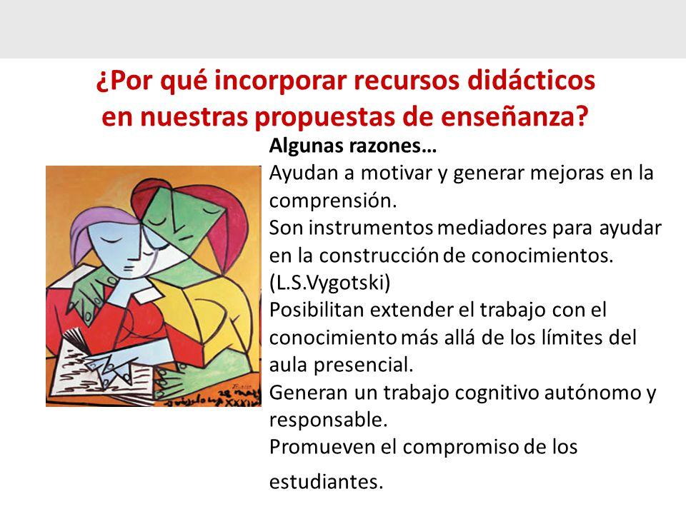 ¿Por qué incorporar recursos didácticos en nuestras propuestas de enseñanza.