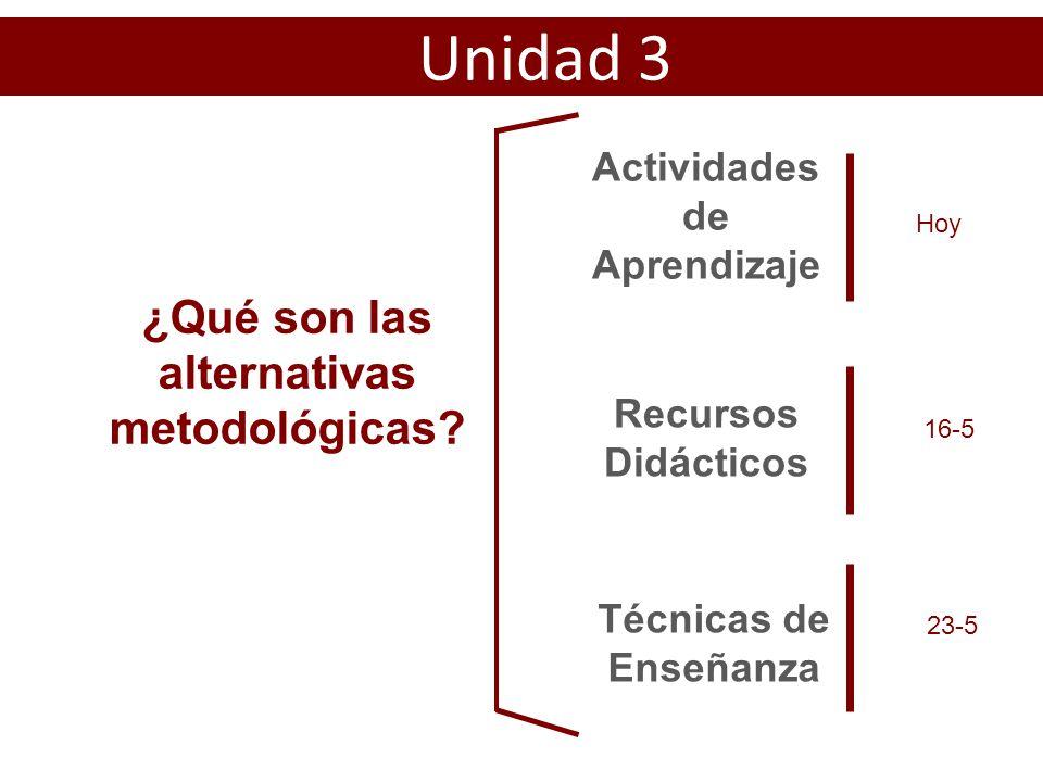 ¿Qué son las alternativas metodológicas.