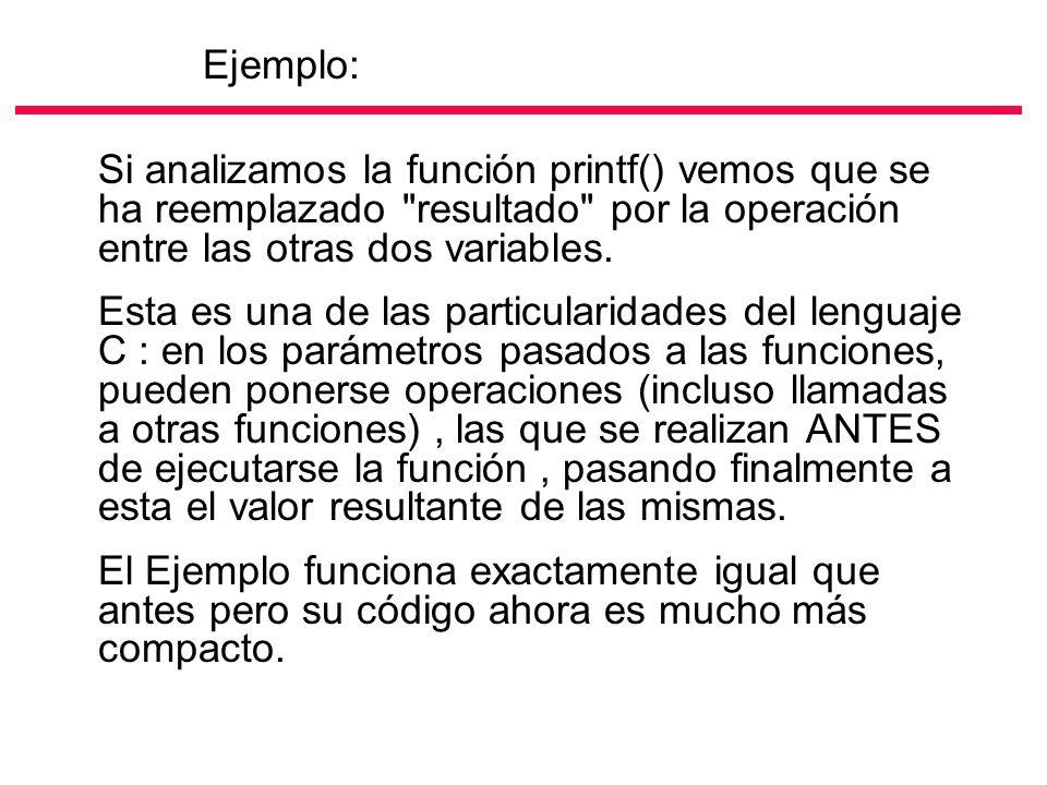 Si analizamos la función printf() vemos que se ha reemplazado