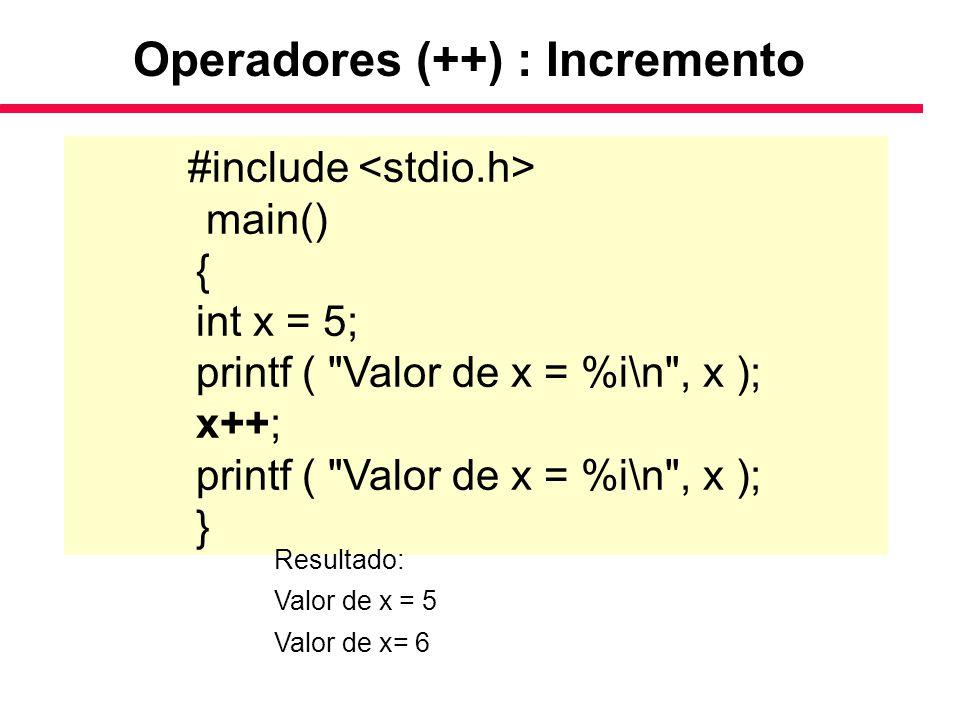 #include main() { int x = 5; printf (