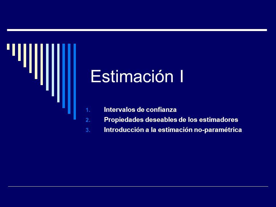 Intervalos de confianza Parámetros de población: La media y varianza de población son constantes Estadísticos de muestra: La media y varianza muestrales son v.