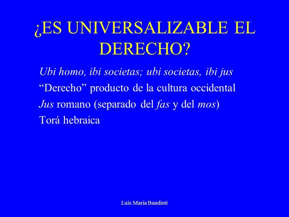 Luis María Bandieri ¿ES UNIVERSALIZABLE EL DERECHO.