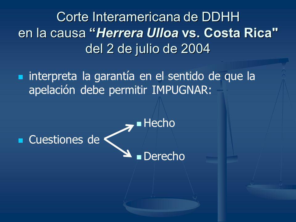 Corte Interamericana de DDHH en la causa Herrera Ulloa vs. Costa Rica