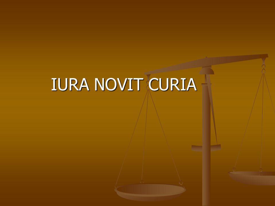 IURA NOVIT CURIA