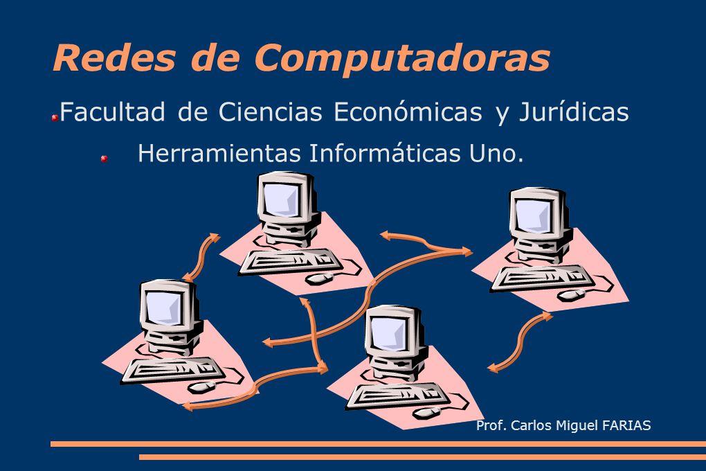 Redes de Computadoras Facultad de Ciencias Económicas y Jurídicas Herramientas Informáticas Uno.