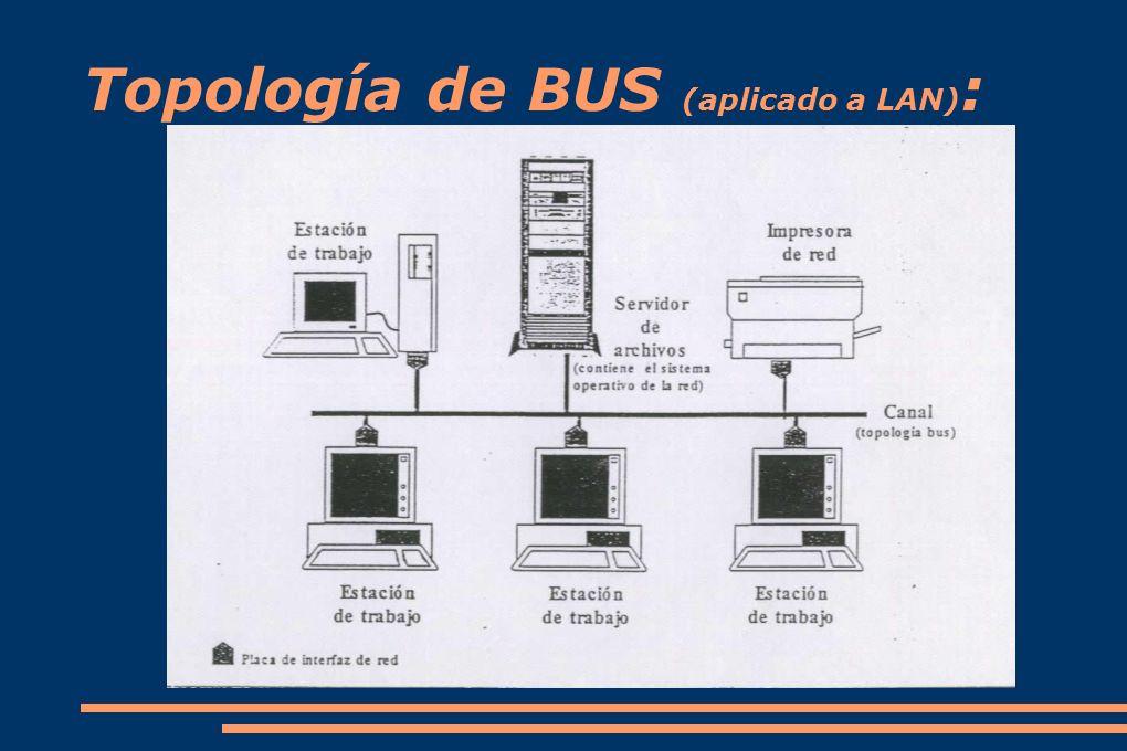 Topología de BUS (aplicado a LAN) :
