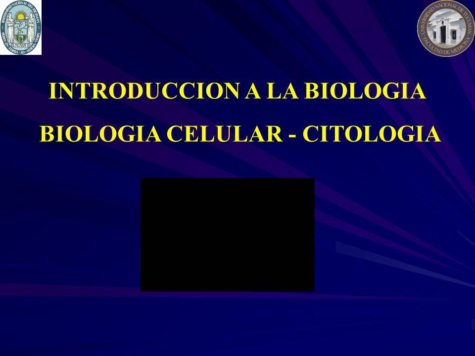 INTRODUCCION A LA BIOLOGIA BIOLOGIA CELULAR - CITOLOGIA