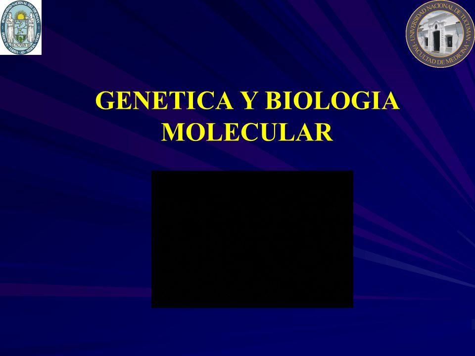 GENETICA Y BIOLOGIA MOLECULAR