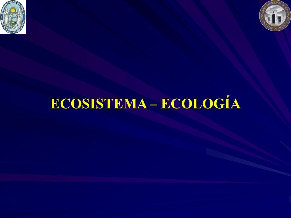 ECOSISTEMA – ECOLOGÍA