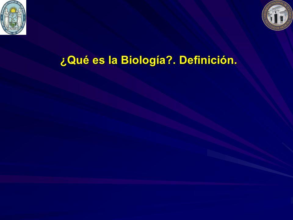 ¿Qué es la Biología?. Definición.