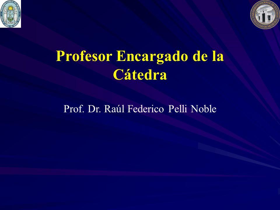 Profesor Encargado de la Cátedra Prof. Dr. Raúl Federico Pelli Noble