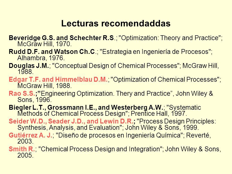 Lecturas recomendaddas Beveridge G.S.