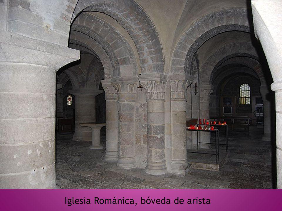 Iglesia Románica, bóveda de arista