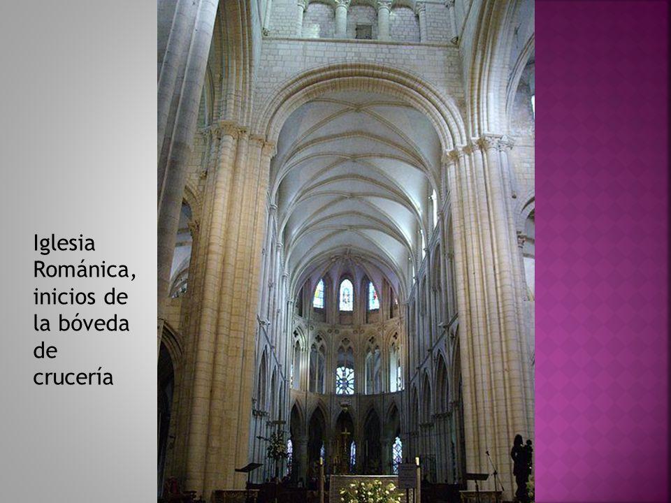 Iglesia Románica, inicios de la bóveda de crucería